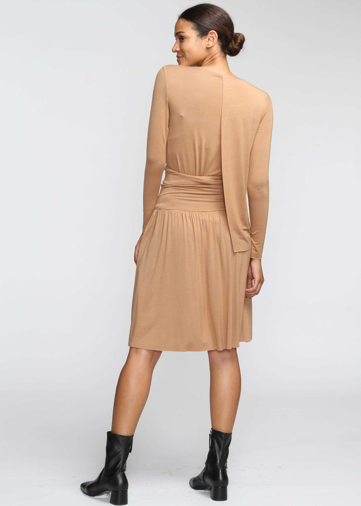 Drape T - Camel - FINAL SALE - The Frock NYC