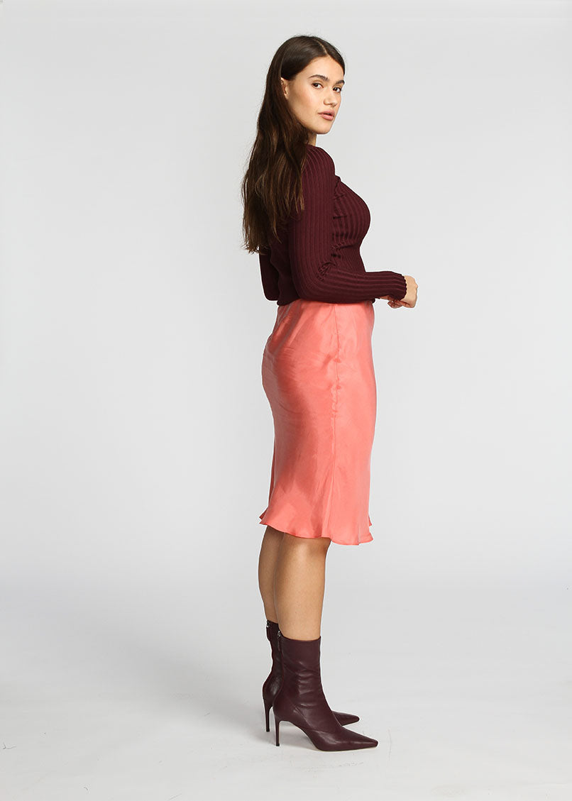 Slip Skirt - Coral - The Frock NYC