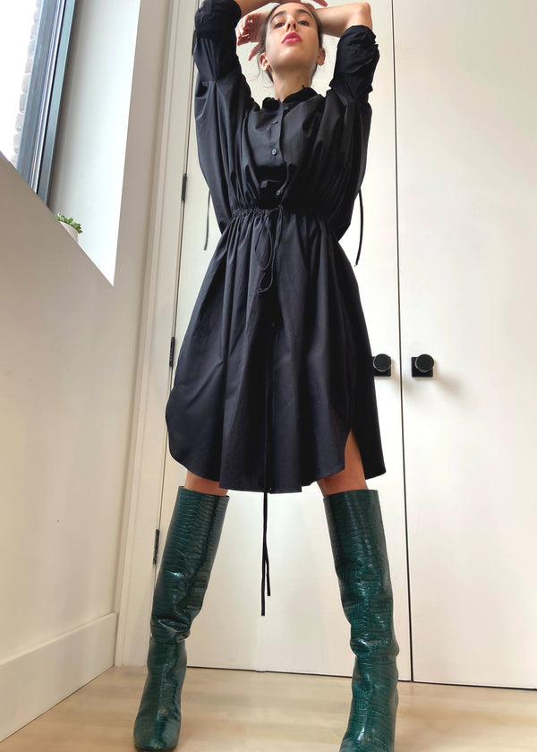 Cinch Dress - Black - The Frock NYC