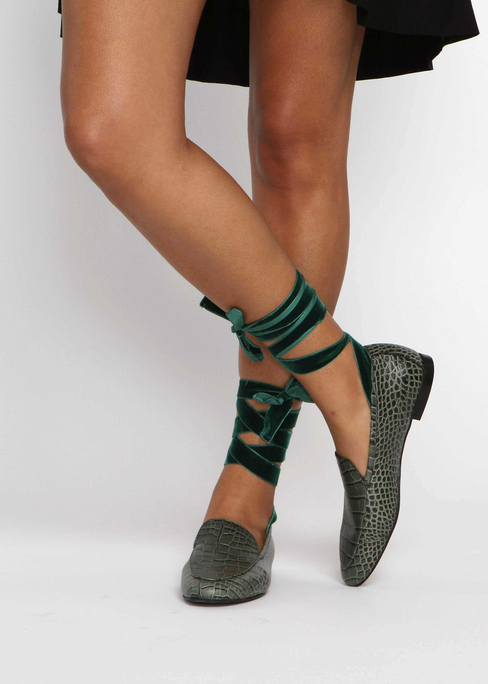 Frock x A. Soliani Loafer - Sage Green - The Frock NYC