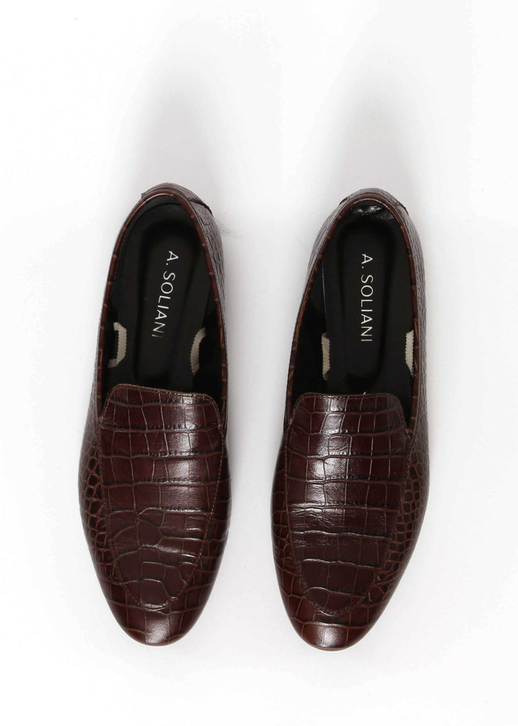 Frock x A. Soliani Loafer - Chocolate - The Frock NYC