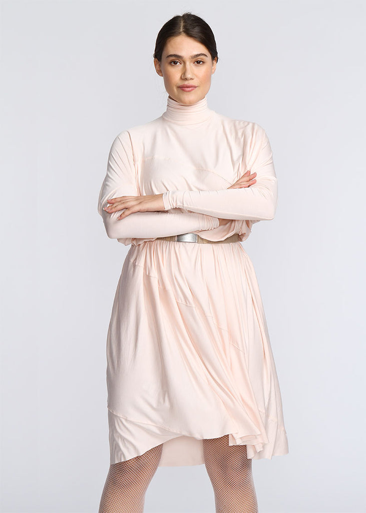 Fluid Turtleneck -  Baby Pink - FINAL SALE - The Frock NYC
