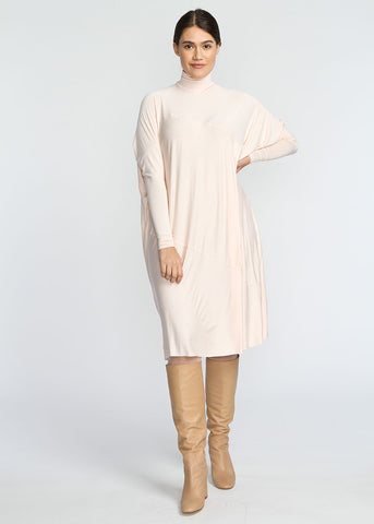 Fluid- Turtle Neck- Baby Pink
