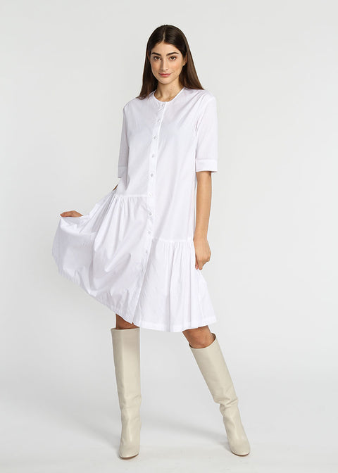 Asymmetrical Dress- White