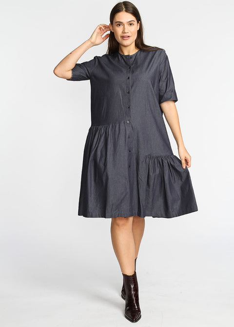 Asymmetrical Dress- Denim
