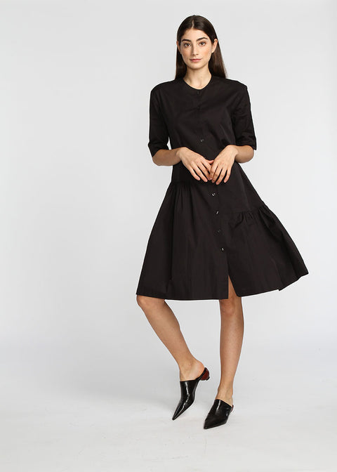 Asymmetrical Dress- Black