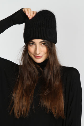 The Frock x Anna and Ava Beanie-Black-$36