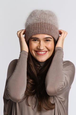 THE FROCK x Anna and Ava Beanie-Stone-$36