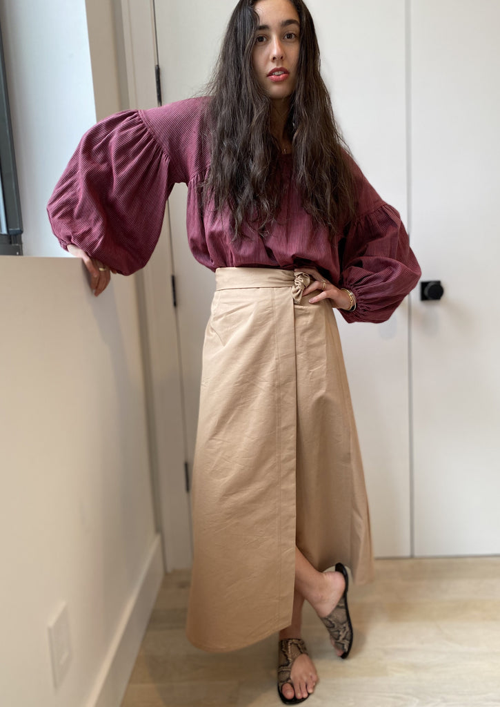 Safari Skirt MIDI - Camel - The Frock NYC