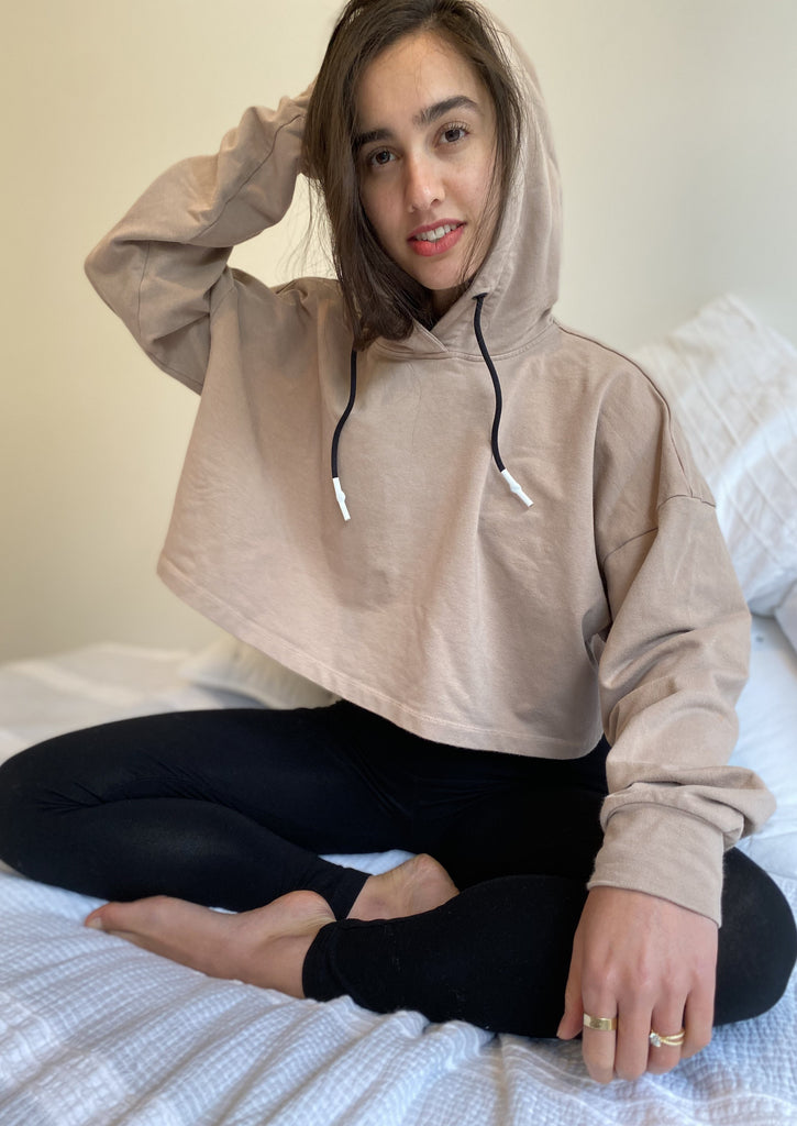 Crop Hoodie - Dust - The Frock NYC