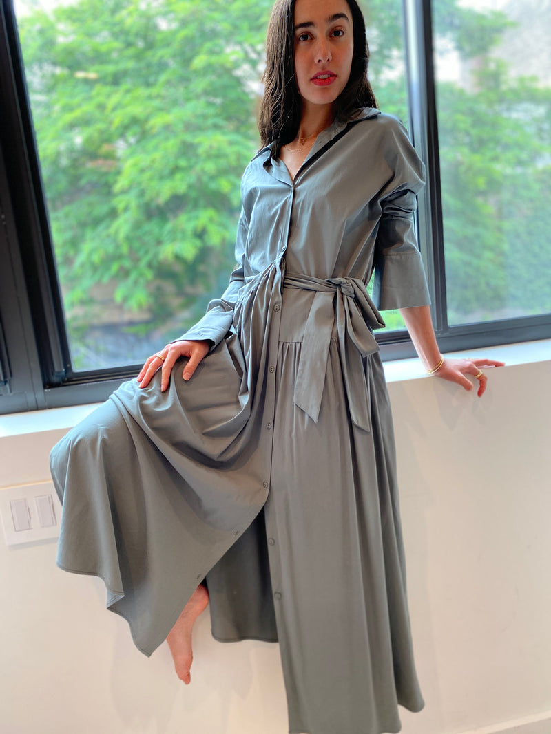 Two Tie Maxi - Sage - The Frock NYC