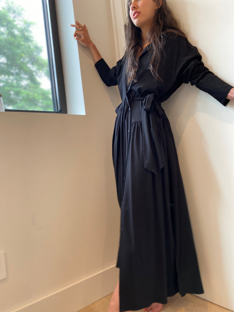 Two Tie Maxi - Black - The Frock NYC