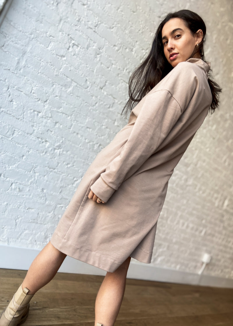 All Sweats Dress - Sand - The Frock NYC