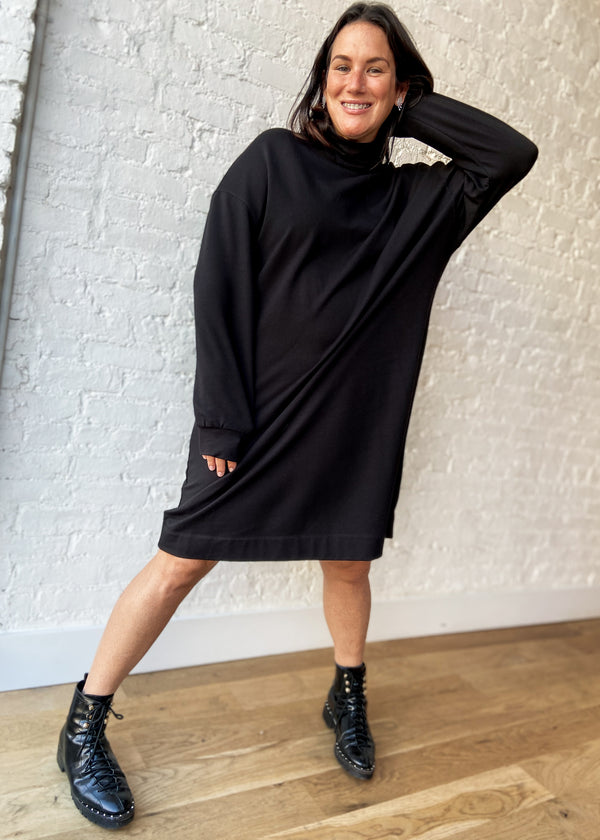 All Sweats Dress - Black - The Frock NYC