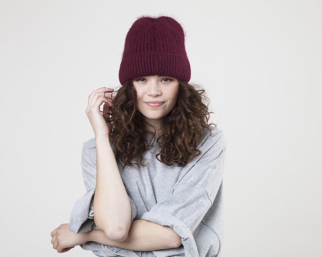 THE FROCK x Anna and Ava Beanie-Maroon