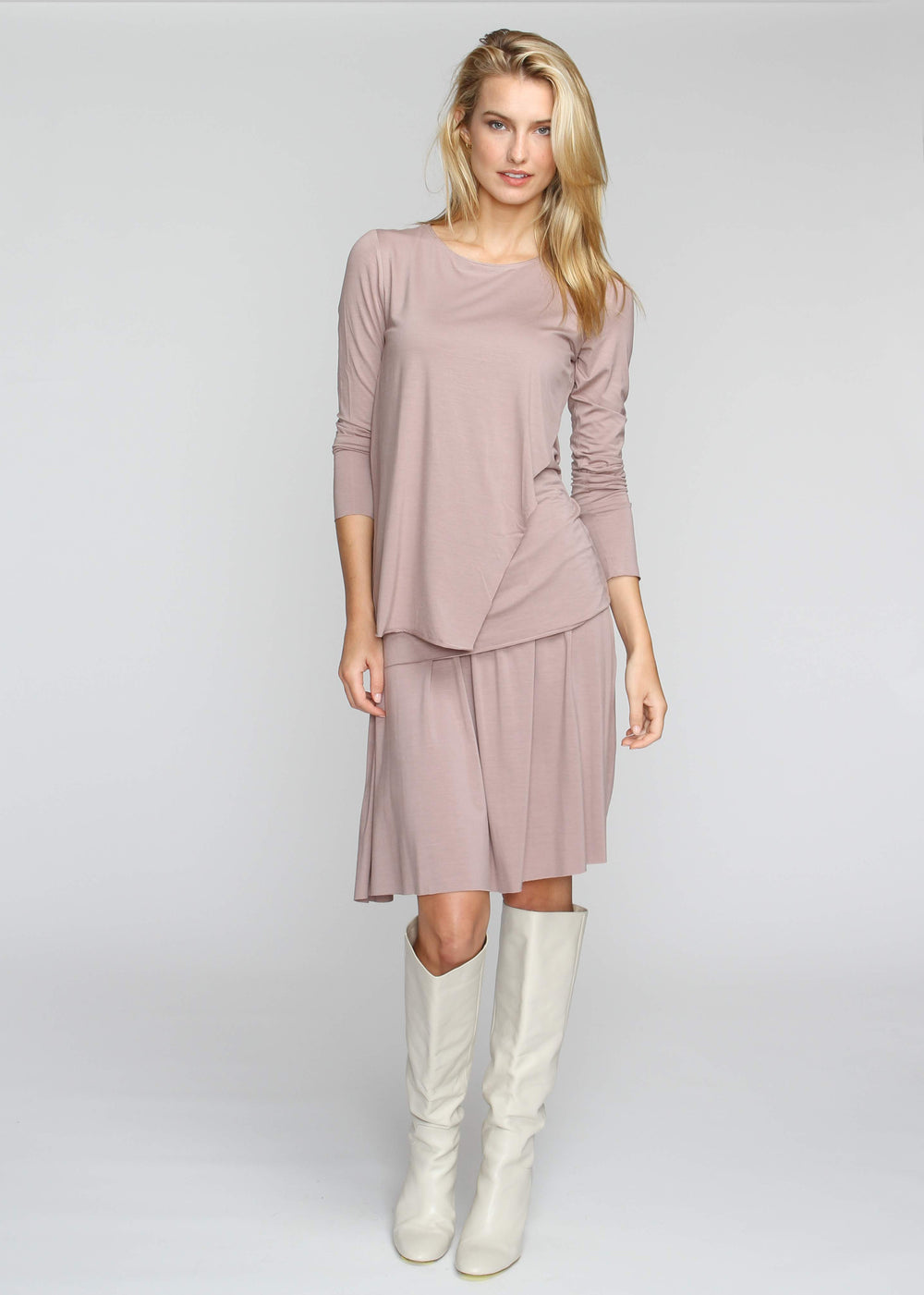 Drape T - Taupe - The Frock NYC