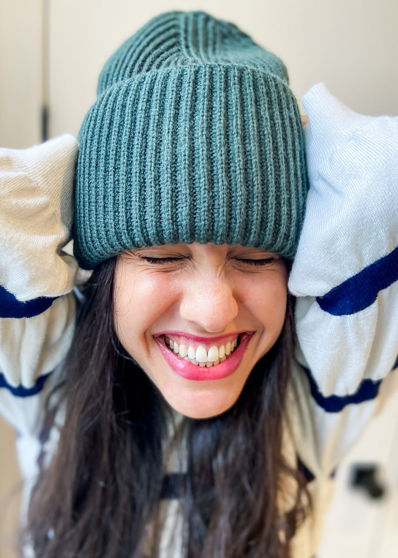 Beanie - Hunter Green - The Frock NYC