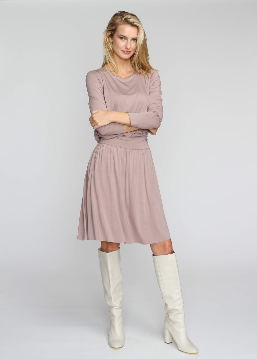 Band Skirt - Taupe - The Frock NYC