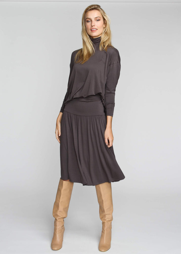 Band Skirt - Indigo Grey - FINAL SALE - The Frock NYC