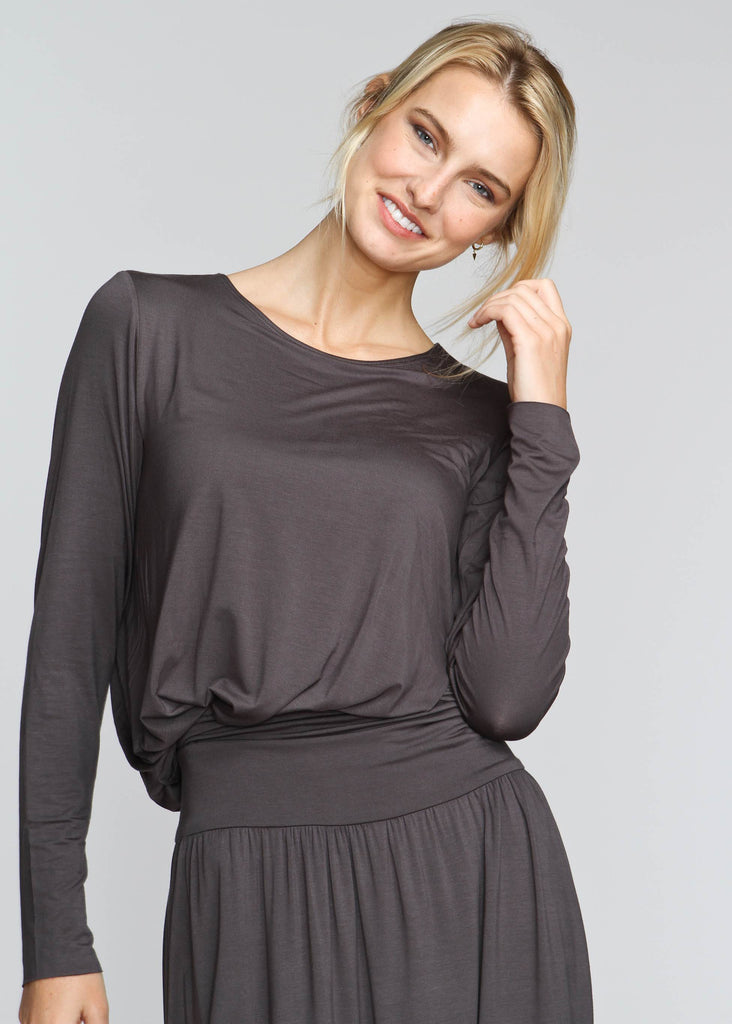 Drape T - Indigo Grey - The Frock NYC