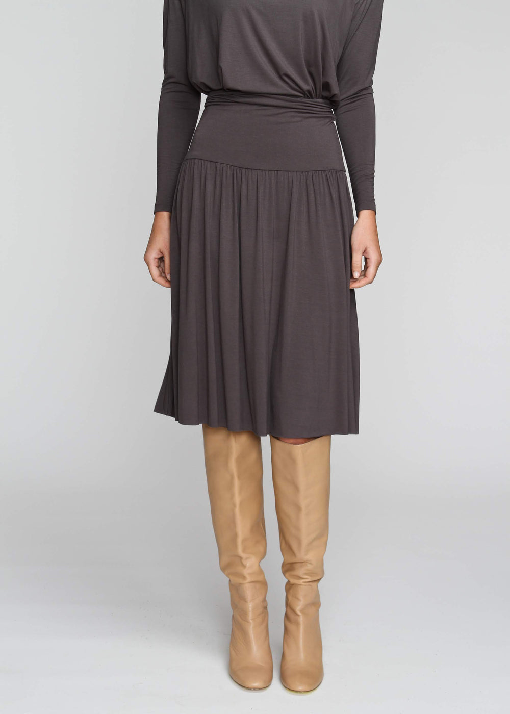 Band Skirt - Indigo Grey - The Frock NYC