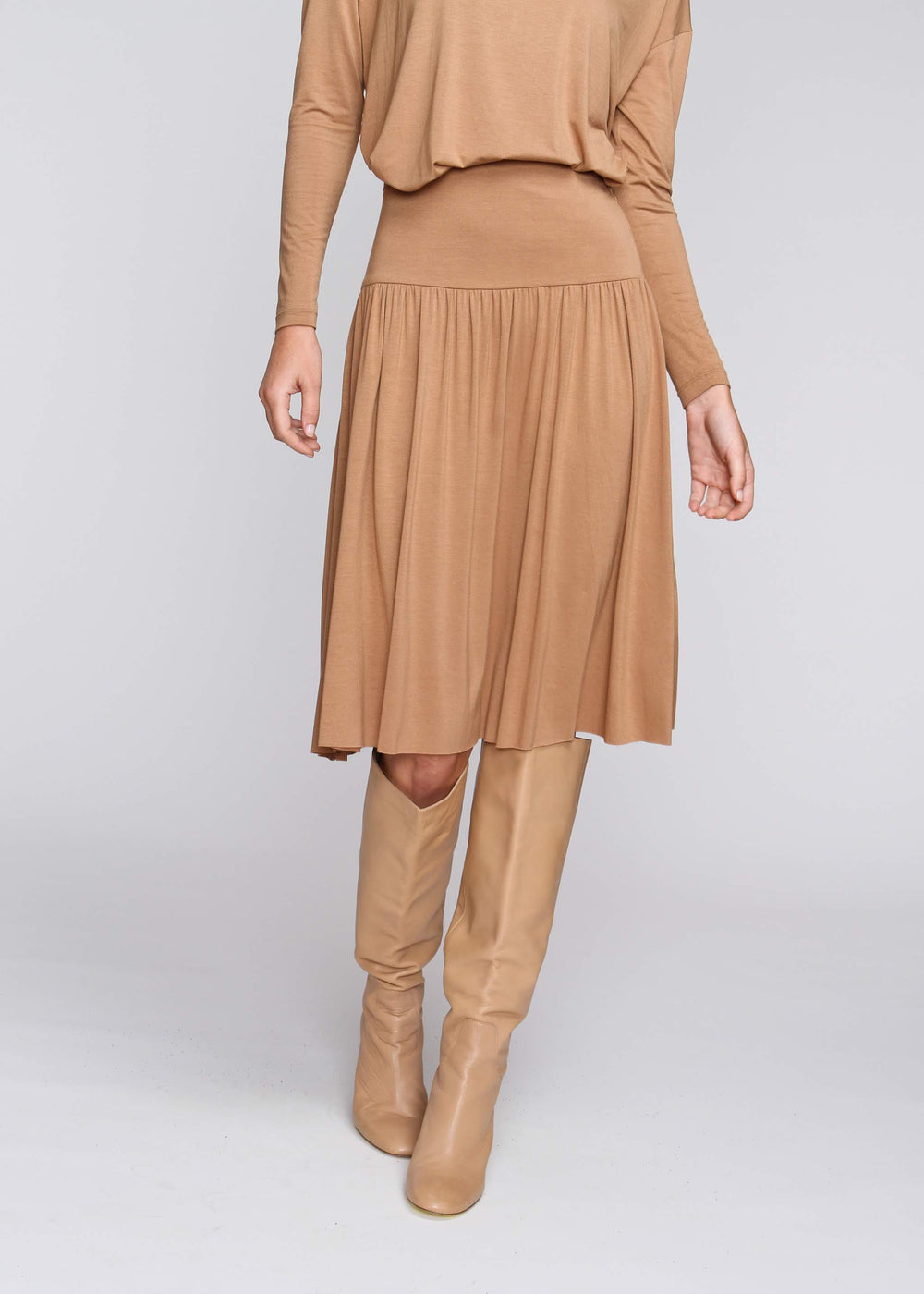 Band Skirt - Camel - The Frock NYC