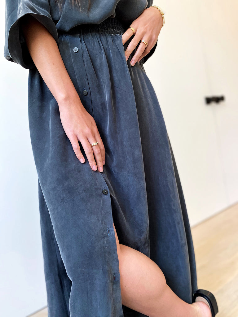 Brooklyn Maxi Skirt - Slate - The Frock NYC