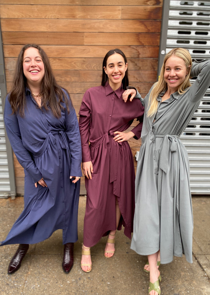Two Tie Maxi - Plum - The Frock NYC