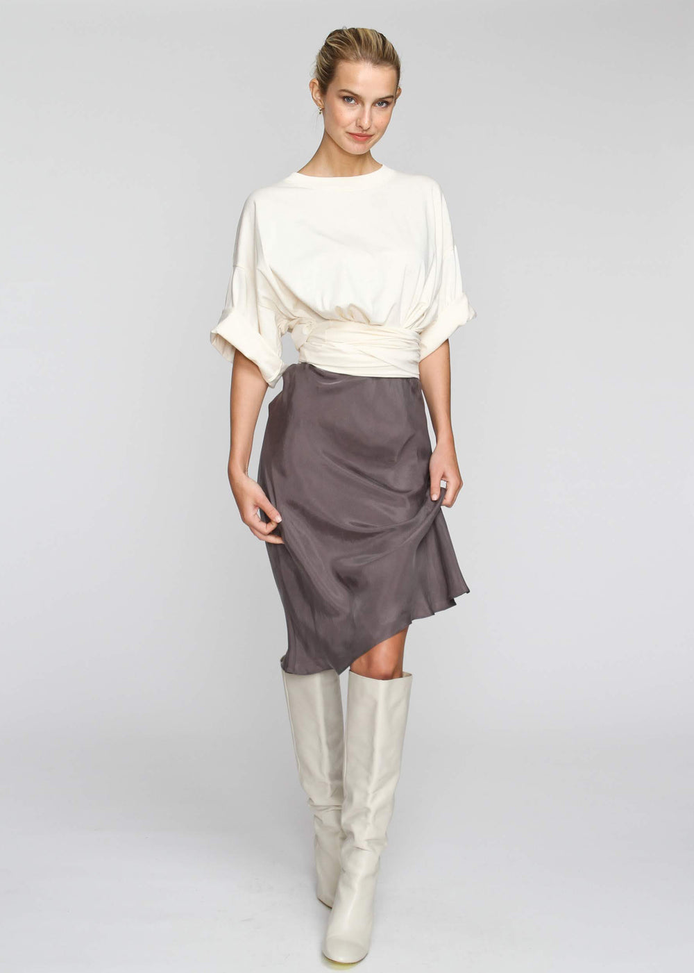 Slip Skirt - Dark Grey - The Frock NYC