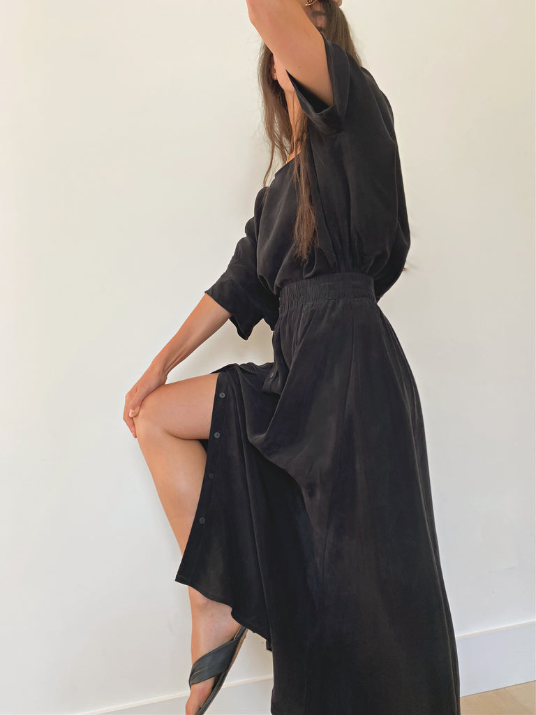 Brooklyn Maxi Skirt - Black - The Frock NYC
