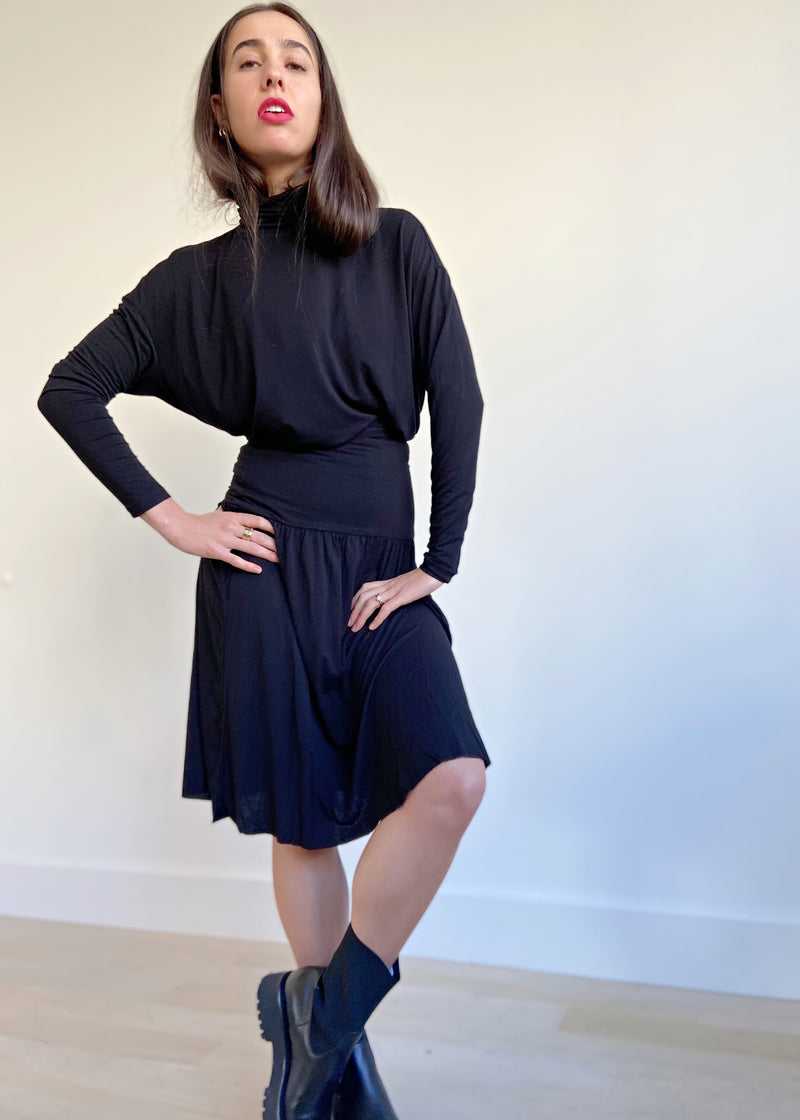 Band Skirt - Black - The Frock NYC
