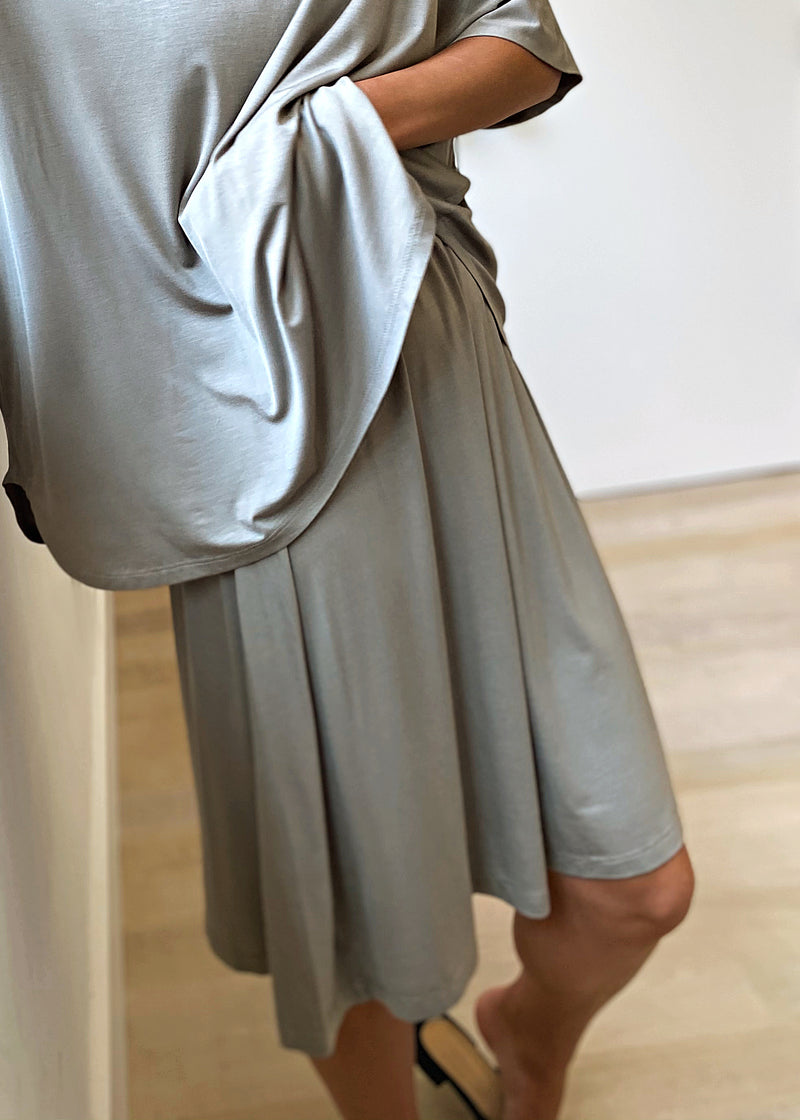 Brooklyn Jersey Skirt - Sage - The Frock NYC