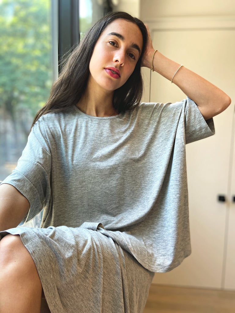 Brooklyn Jersey T - Heather Grey - The Frock NYC