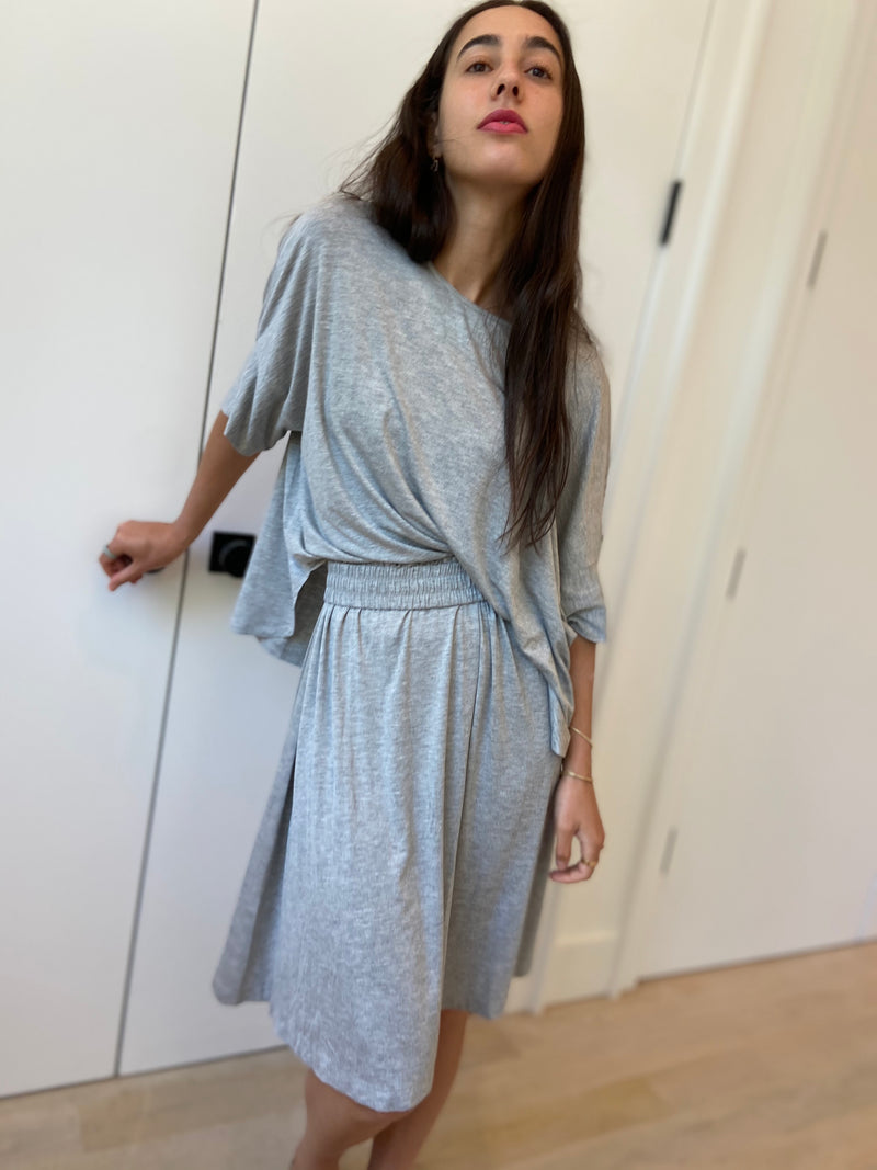 Brooklyn Jersey Skirt - Heather Grey - Final Sale - The Frock NYC