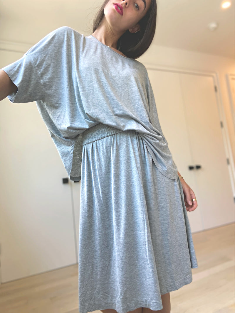 Brooklyn Jersey Skirt - Heather Grey - The Frock NYC