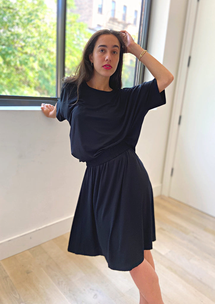 Brooklyn Jersey Skirt - Black - The Frock NYC