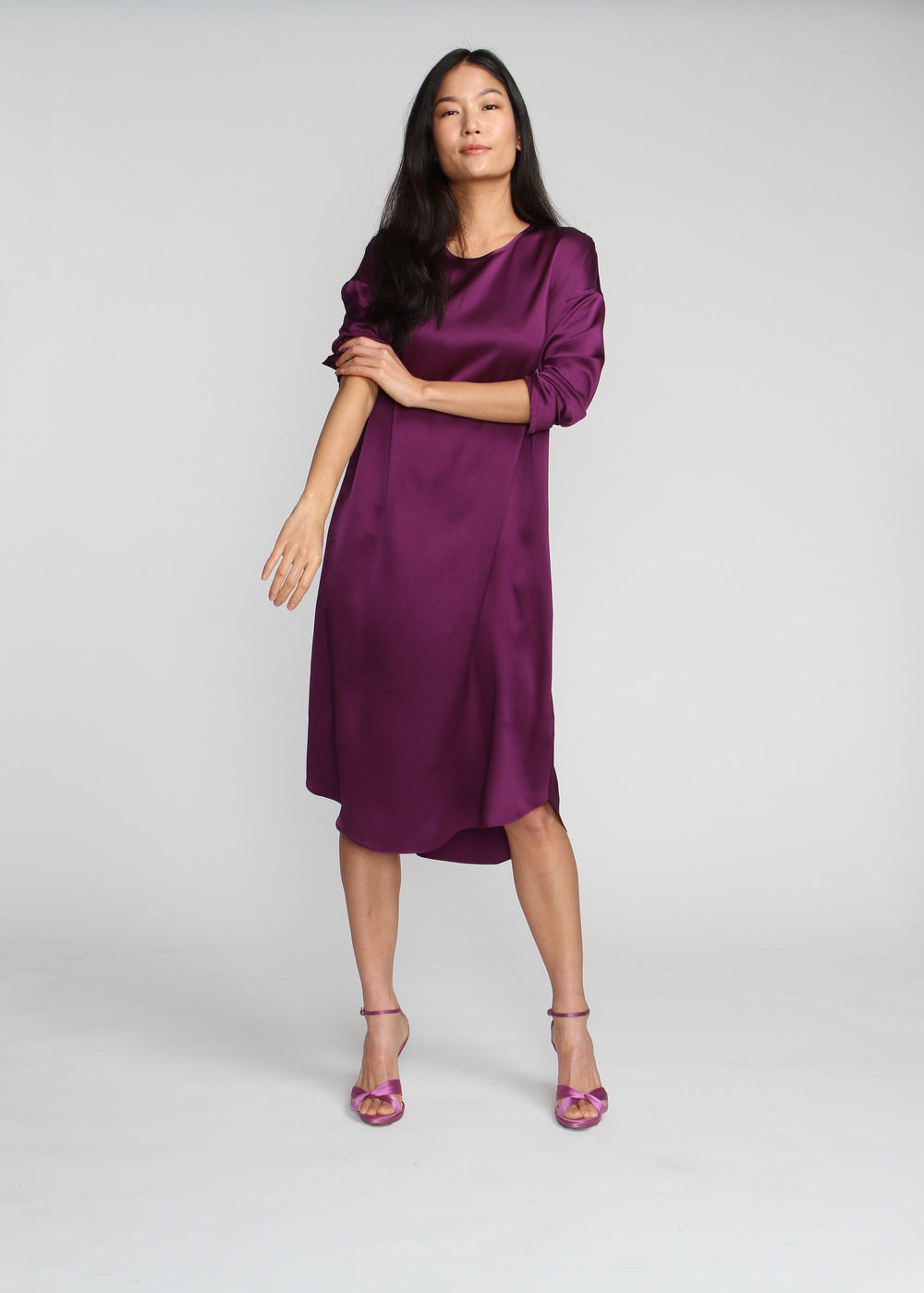 Silky T Dress - Prada Purple - The Frock NYC