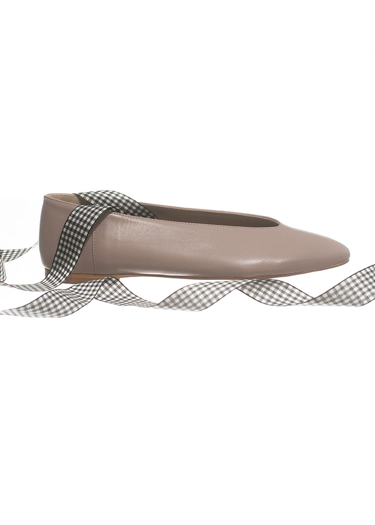Frock x A. Soliani Ballet Flat Taupe - The Frock NYC
