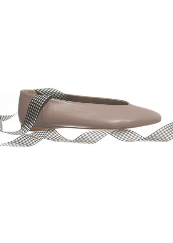 Frock x A. Soliani Ballet Flat Taupe