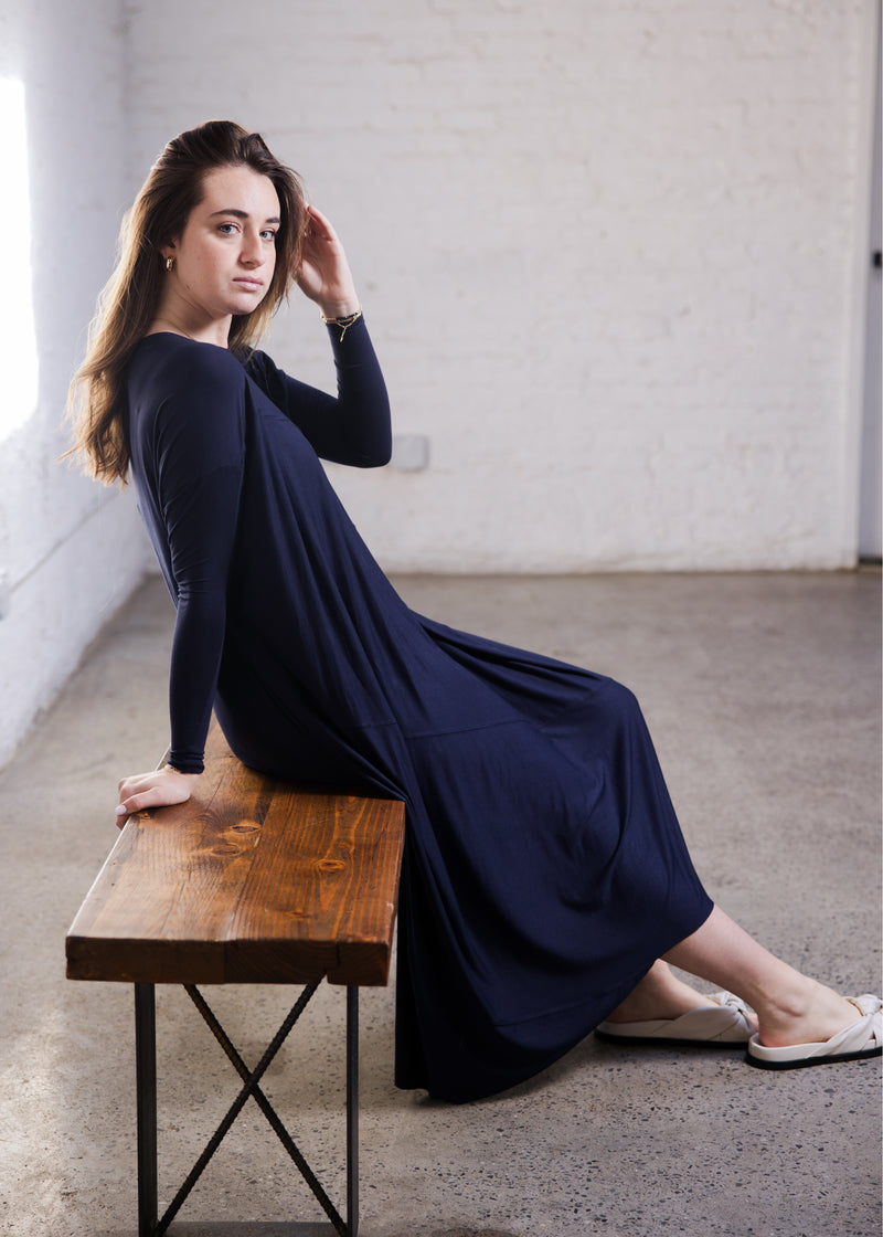 Fluid Dress - Navy - The Frock NYC