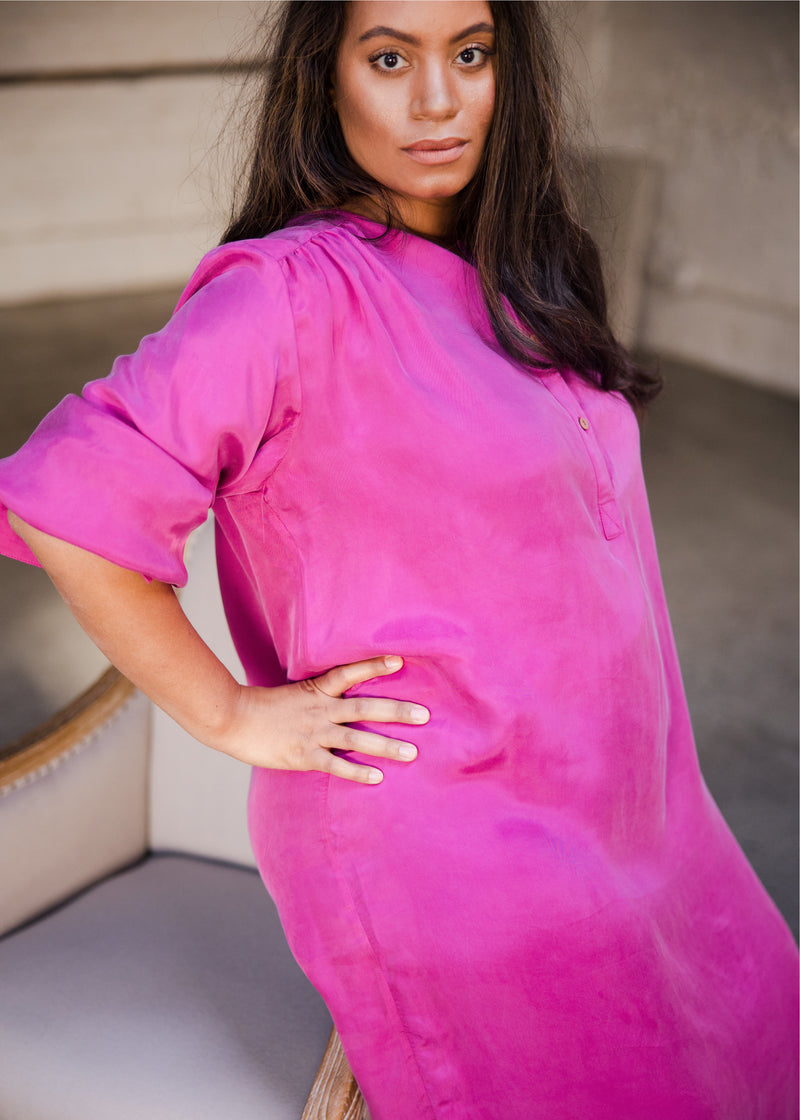 Luxe Dress - Fuchsia - The Frock NYC