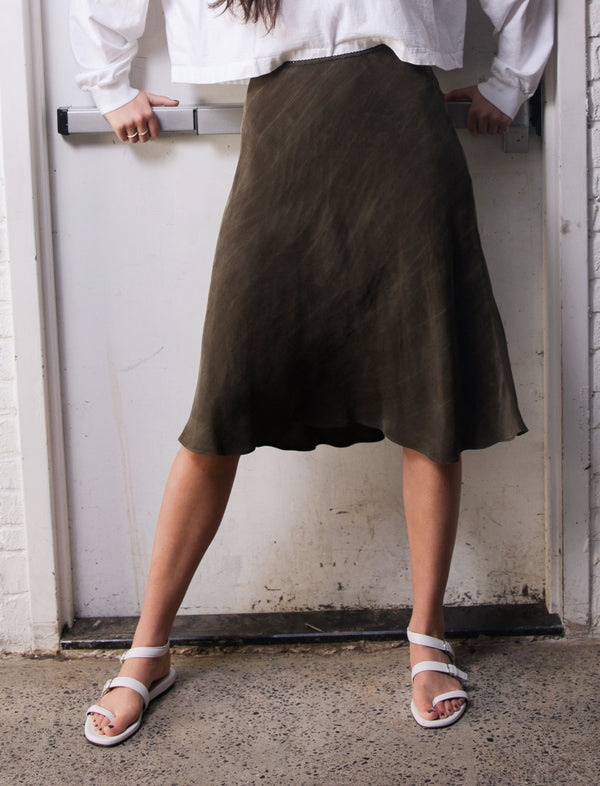 Slip Skirt 2.0 - Army - The Frock NYC
