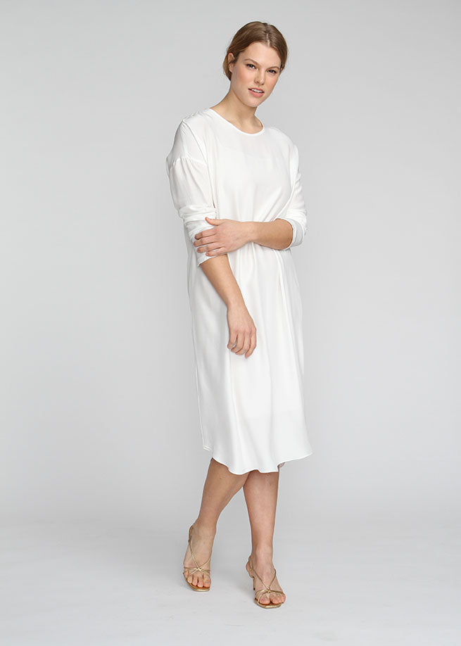 Silky T Dress - White - The Frock NYC