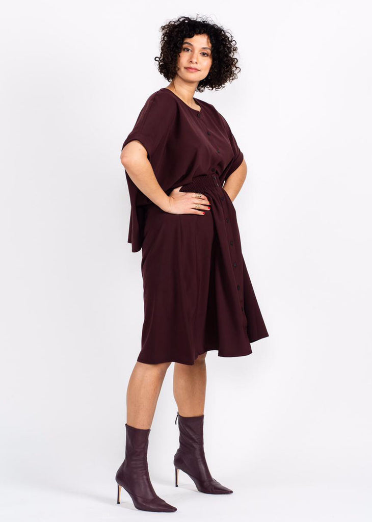 Brooklyn Skirt - Burgundy - The Frock NYC