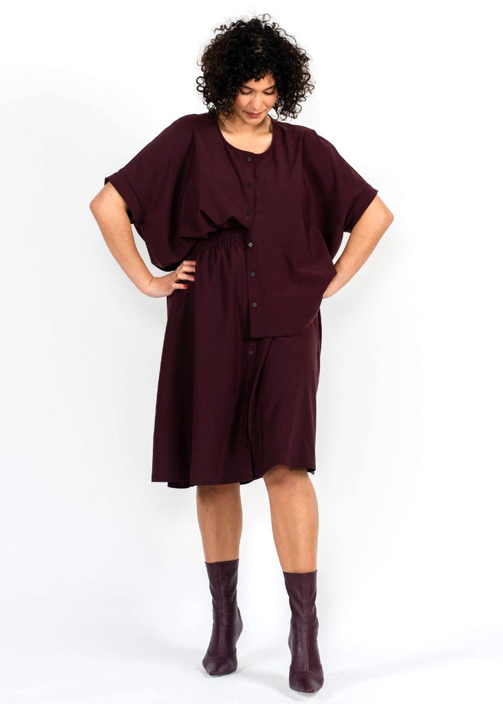 Brooklyn T - Burgundy - The Frock NYC