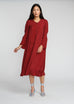 Burgundy cupro dress