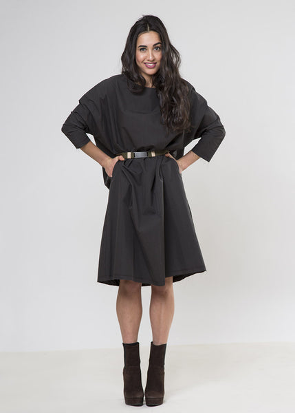 Frock Shift-CHARCOAL-$128