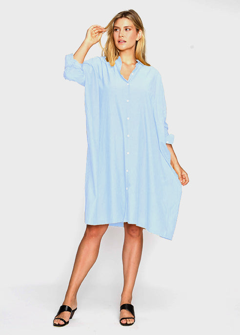 The Shirt Dress - Sky Blue - Last Chance Final Sale - The Frock NYC
