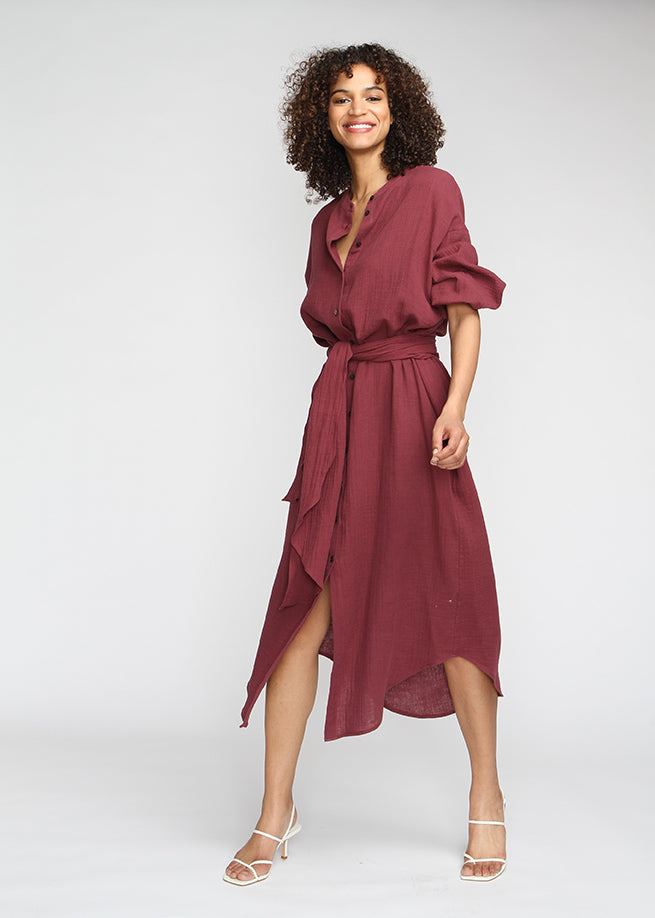 Marrakech - Burgundy - Last Chance Final Sale - The Frock NYC