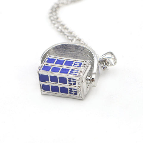 Doctor Who Spinning Tardis Necklace